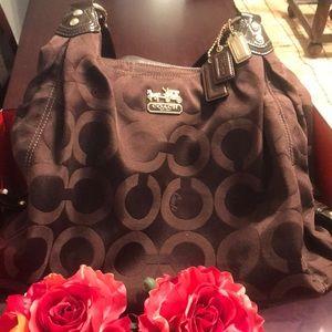Brown shoulder Coach bag